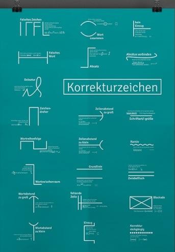 """Poster """"Korrekturzeichen"""""""