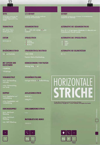 "Poster ""Horizontale Striche"""